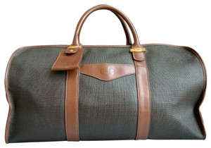 Alfred Dunhill Boston Duffle Vintage Black & Chocolate Brown Travel Bag