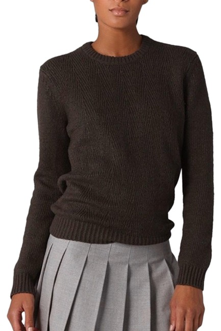 Item - Caroleen Wool Chunky Knit Brown Olive Sweater