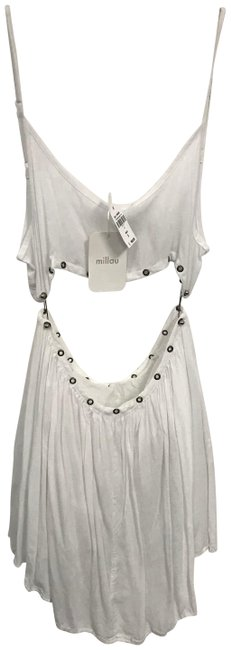 Item - White Modern Two Piece Party Short Night Out Dress Size 4 (S)