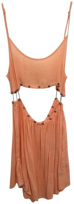 Item - Peach Modern Two Piece Party Short Night Out Dress Size 4 (S)