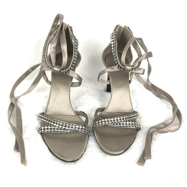 Item - Grey Silver Tom Ford Swarovski Crystal Heels Platforms Size US 6.5 Regular (M, B)