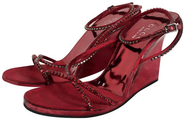 Item - Red Tom Ford For Lucite Crystal Wedge Formal Shoes Size US 7 Regular (M, B)