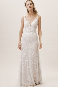 BHLDN Ivory Claremont Gown Whispers & Echoes Feminine Wedding Dress Size 12 (L)