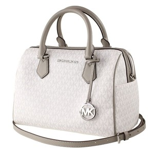 Michael Kors Bedford Duffle 193599458908 Leather Satchel in White