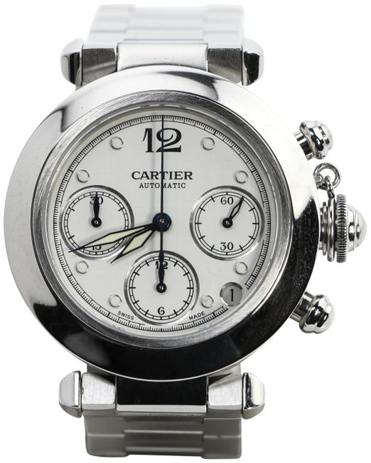 Item - Silver/ Stainless Steel Pasha Chronograph 2412 Watch