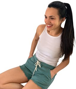 Aerie Aerie Green Elatic Shorts with Tie Waist