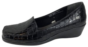 Merona Loafer Comfortable Black Patent Wedges