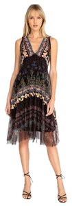 Multi-Color Maxi Dress by Johnny Was Floral Embroidered Boho Sleeveless Midi