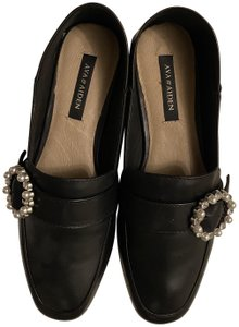 Ava & Aiden Loafer Leather Black Flats