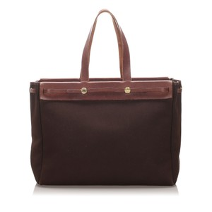 Hermes 0dheto005 Vintage Leather Tote in Brown