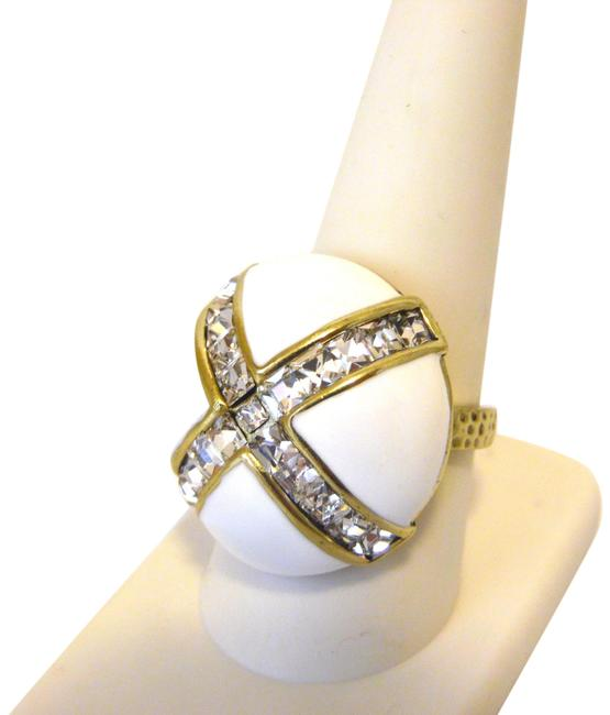 """Item - B """"Madison & 68th Enamel and Crystal Size 9 Ring"""