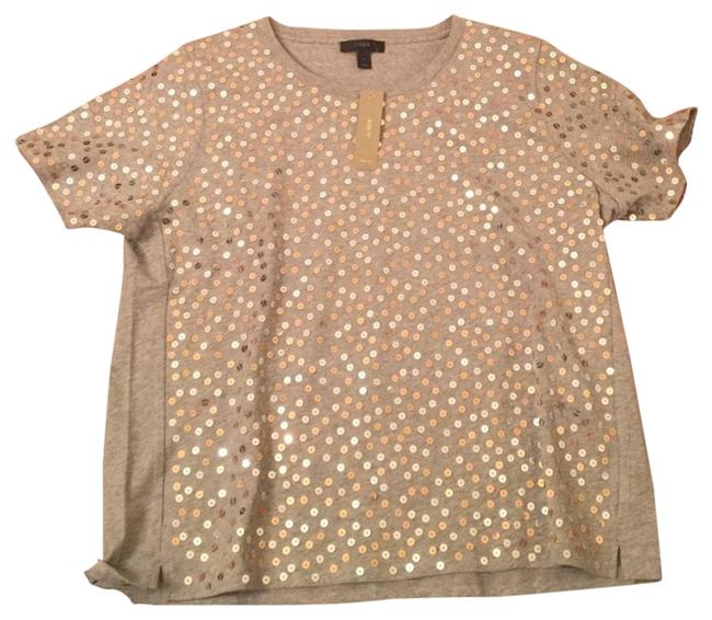 Item - Silver Front Sequin Tee Shirt Size 12 (L)