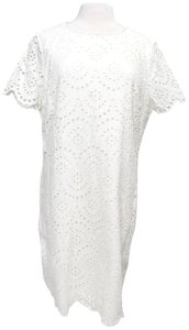 Boden short dress White Eyelet Cotton Shift on Tradesy