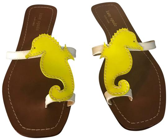 Kate Spade Yellow Seahorse Sandals Size