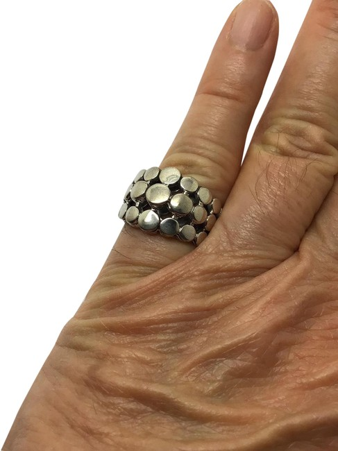 Item - Silver Sterling Dot Dome Ring