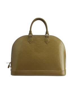 Louis Vuitton Patent Leather Satchel in Yellow