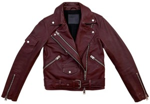 AllSaints The Arrivals Biker Leather Harland Motorcycle Jacket