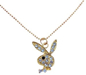 Playboy Playboy Necklace Bunny Logo Pendant Charm Gold Plated Ball Chain