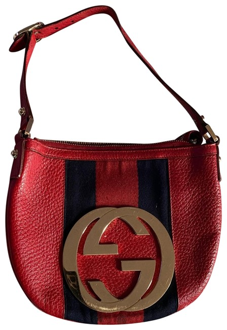 Gucci Shoulder Bag Icon Small Red Leather Baguette Gucci Shoulder Bag Icon Small Red Leather Baguette Image 1