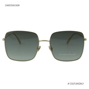 Dior New Cd-stellaire1 Rose Gold Metal Gray Square Oversized Sunglasses