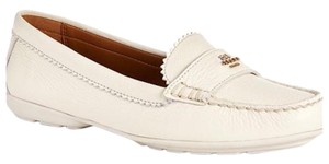Coach Odetta Patent Leather Ivory Flats