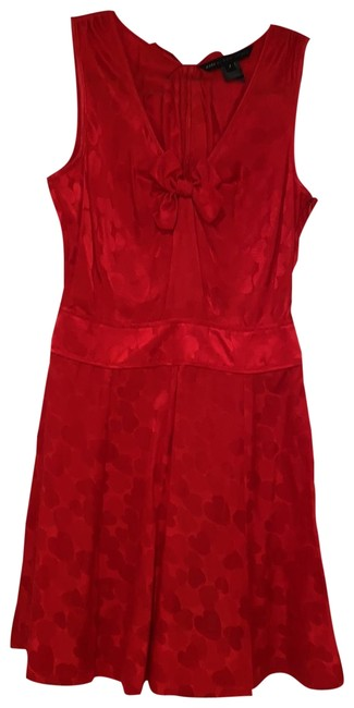 Item - Red Hearts Mid-length Short Casual Dress Size 2 (XS)