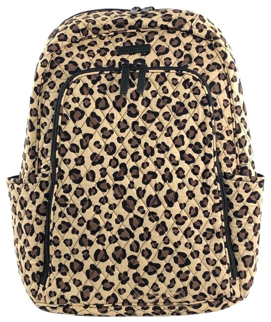 Item - Laptop Tan Leopard Quilted Cotton Backpack