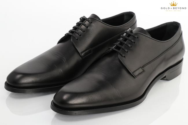 Item - Black Christian Leather Lace Up Derby Size 44 (11 Us) Shoes