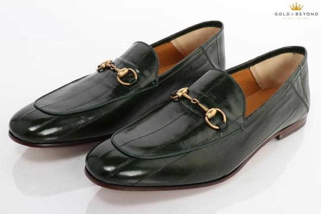 Item - Green Horsebit Angiulla Lux Loafers Size 13 (13.5 Us) Shoes