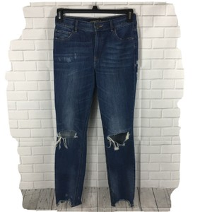 Express Ankle Length High Rise Legging Distressed Destroyed Skinny Jeans