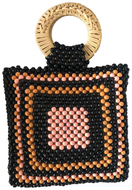 Item - Mini Bag Beaded Keya New Tags Black with Camel and Coral Beads Satchel
