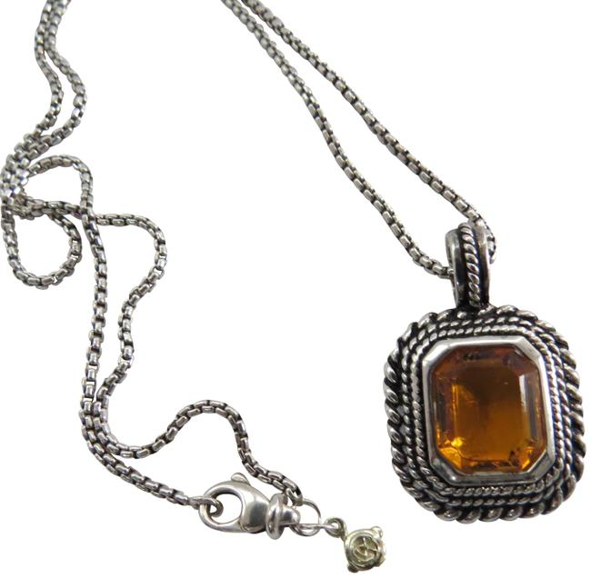 Item - Yellow Box W 2.7mm Sterling Silver Baby Chain W/Citrine Pendant Necklace
