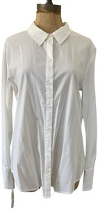 Sanctuary Lace Up Back Cotton Button Down Wear To Work Top White