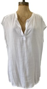 Cloth & Stone Pullover Short Sleeve Tencel Soft Casual Top White