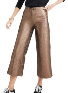 Madewell Capri/Cropped Pants gold