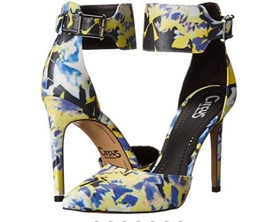 Sam Edelman yellow floral Pumps