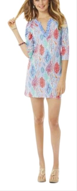 Item - Blue Red White Courtney Tunic Short Casual Dress Size 2 (XS)