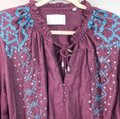 Townsen Purple and Blue Piper Embellished Long Sleeve Peasant Blouse Size 12 (L) Townsen Purple and Blue Piper Embellished Long Sleeve Peasant Blouse Size 12 (L) Image 7