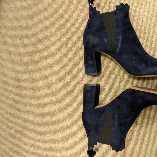 Item - Navy Scalloped Boots/Booties Size US 6.5 Regular (M, B)