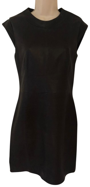 Item - Navy Leather Mini Short Casual Dress Size 4 (S)