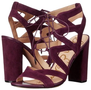 Sam Edelman Lace Up Chunky Night Out Date Night Wine Sandals