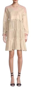 FENTY PUMA by Rihanna short dress Beige Shift Lace Trim Oversized Sundress on Tradesy