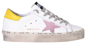 Golden Goose Deluxe Brand White pink yellow Athletic