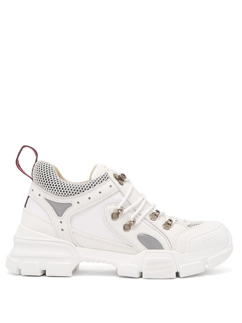 Gucci White Mf Flashtrek Leather Trainers Sneakers Size EU 36.5 (Approx. US 6.5) Regular (M, B) Gucci White Mf Flashtrek Leather Trainers Sneakers Size EU 36.5 (Approx. US 6.5) Regular (M, B) Image 1