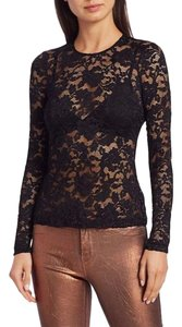 L'AGENCE Lace Sexy Top Black