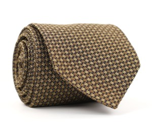 Tom Ford Brown & Tan Silk Blend Neck - Made In Italy Tie/Bowtie
