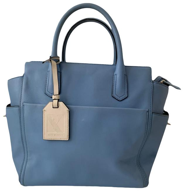 Item - Pastel Blue Leather Tote