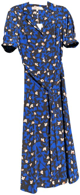Item - Navy Black Night Blossom Egypt Mid-length Casual Maxi Dress Size 4 (S)