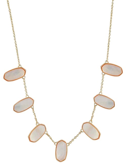 Item - Gold Peach Mop Meadow Slider Necklace
