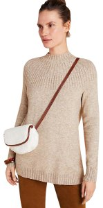 Anthropologie High Neck Ribbed Tunic Sweater